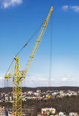 High-rise tower crane — Stock Photo