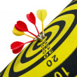 Target darts — Stock Photo