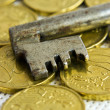 Money key — Stock Photo