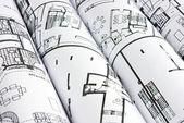 Alcuni tubi di piani in sottofondo — Foto Stock