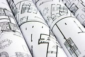 Algunos planes de tubos en el fondo — Foto de Stock