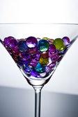Martini mit blasen — Stockfoto