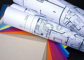 Planos e amostras — Foto Stock