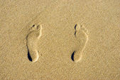 Foot steps — Stock Photo