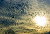Gökyüzü ve uçak — Stok fotoğraf