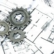 Gears and plans — Stock Photo #1864987