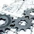 Plans gears — Stock Photo