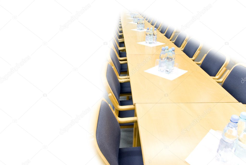 Isoleted conference table with chairs — Stock Photo #2238394