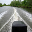 Trace on water from motor boats — Stock Photo #1733308