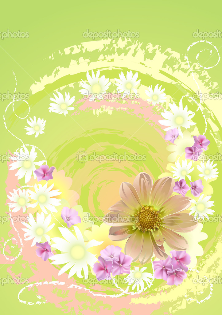 Flower yellow  Stock Vector #1649151