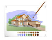 Drawn house — Stock Vector