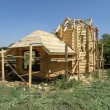 Stock Photo: Building of wooden house