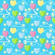 Vector de stock : Valentine seamless pattern