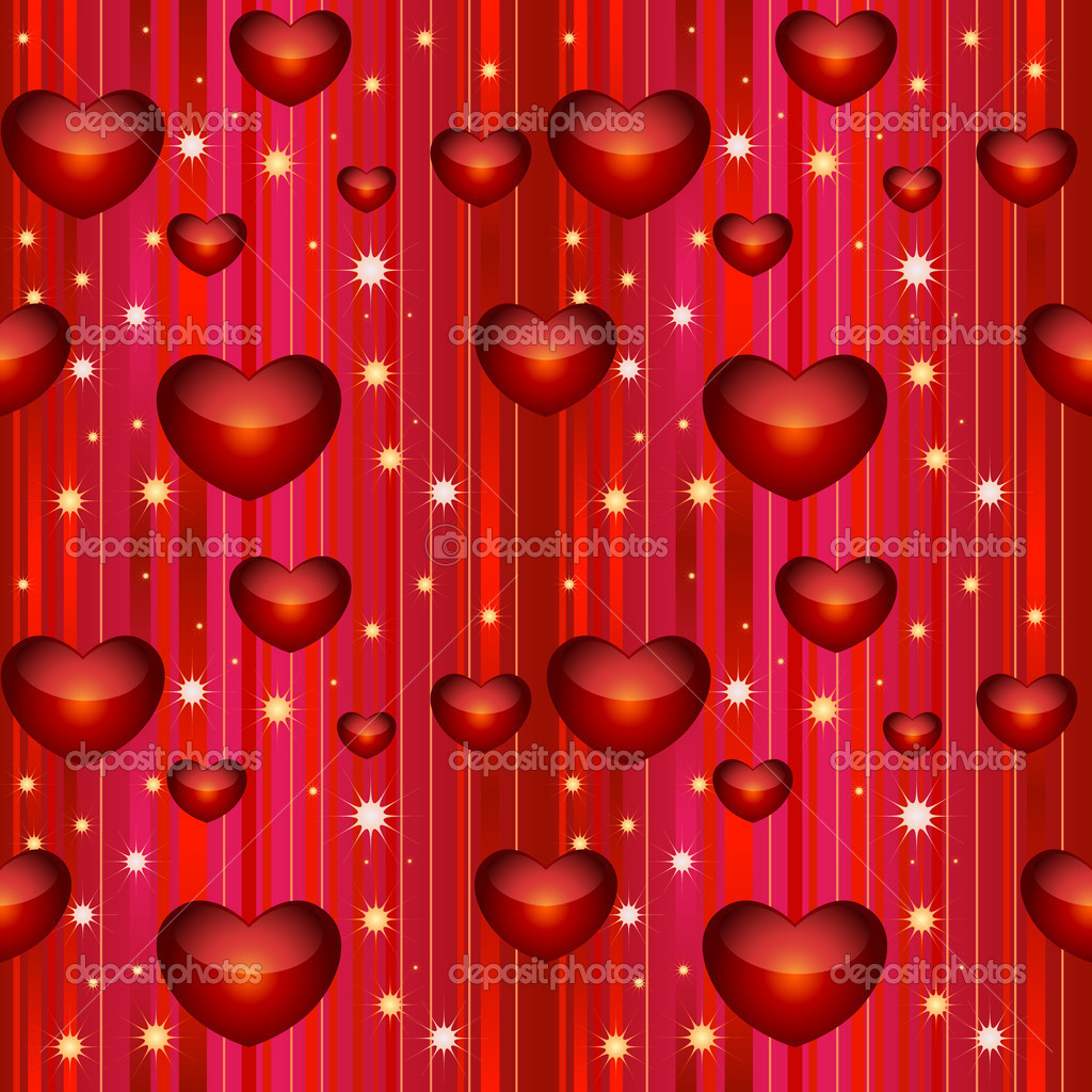Valentine seamless background. Vector illustration — Stock Vector #1972588