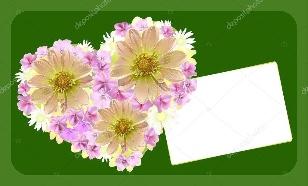 Wedding or Valentine`s day card. Vector illustration — Stock Vector #2033910