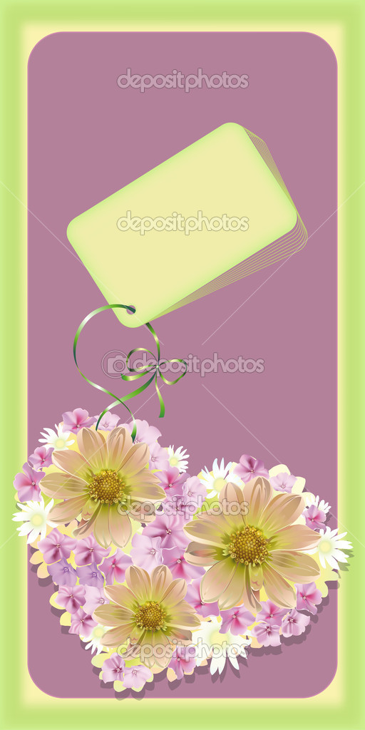Wedding or Valentine`s day card. Vector illustration — Stock Vector #2131756