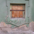 Stock Photo: Old wall with a window