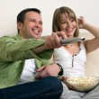 Stock Photo: Happy couple relaxing