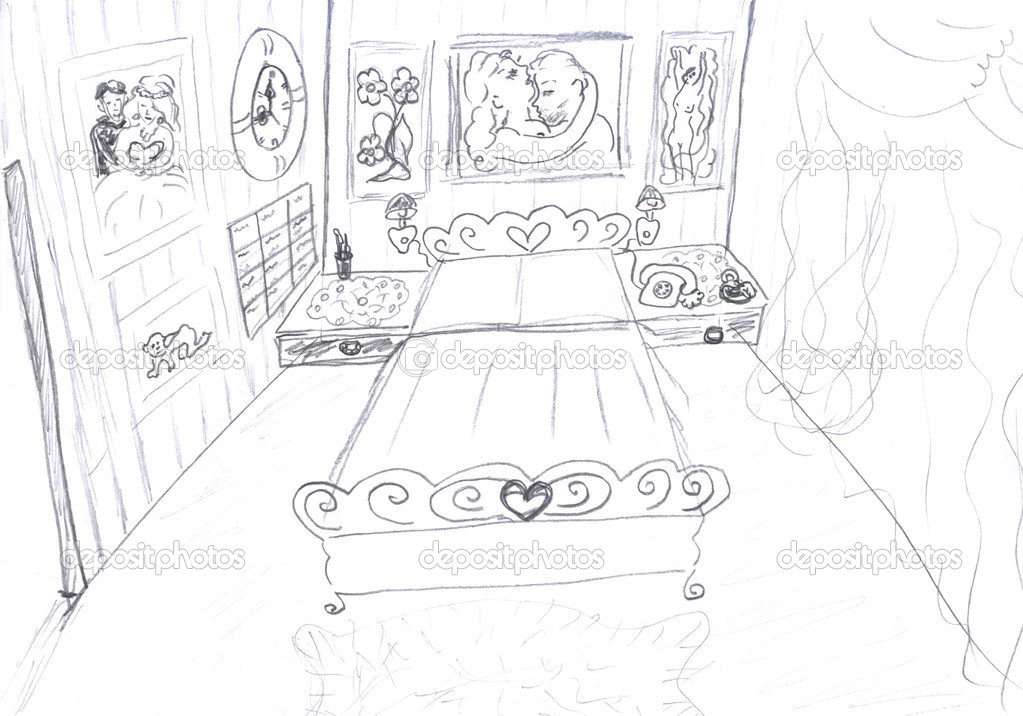 Perfect Bedroom Drawing 1023 x 716 · 182 kB · jpeg