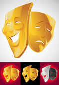 Theater masks — Stock Vector