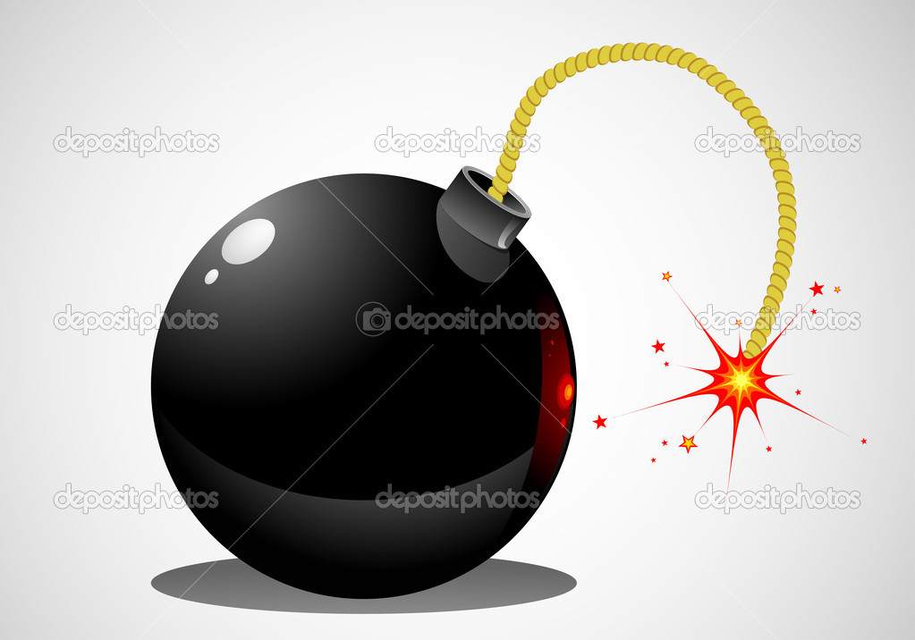 Big bomb — Stock Vector #1622609
