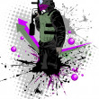 Royalty-Free Stock Vector Image: Paintball
