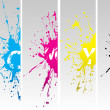 Cmyk splates - Stock Vector