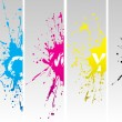 Cmyk splates - Stockvectorbeeld