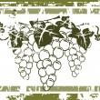 Vector de stock : Grunge grape label