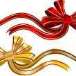 Red and gold ribbon — Imagen vectorial