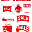 Sale symbols - Stockvectorbeeld