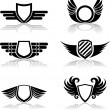Shield icon set — Stockvector #1731861