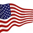 American flag on the wind - Stok Vektr