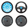 Auto icons - Stok Vektr