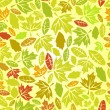 Autumn leaf seamless - Stockvektor
