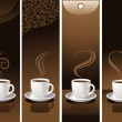 Banner with coffee cups — Stock Vector #1733936