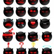 Vector de stock : Devil smiles set