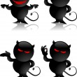 Vector de stock : Devil toy gestures