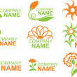 Floral logos - Stock Vector
