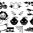 Halloween monsters icon — Stock vektor