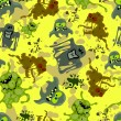 Royalty-Free Stock Vectorielle: Microbes seamless