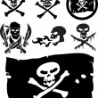 Stock Vector: Piracy signs