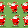 Stock Vector: Santas collection