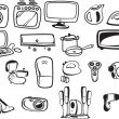 Symbols of household appliances — Image vectorielle