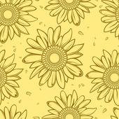 向日葵的无缝背景 — 图库矢量图片