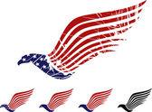 アメリカン ・ イーグルのシンボル — ストックベクタ