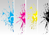 Cmyk splates — Vector de stock