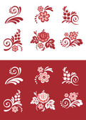 Set van floral element — Stockvector