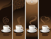 Banner with coffee cups — Stock Vector