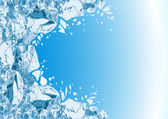 Breaking ice — Vector de stock